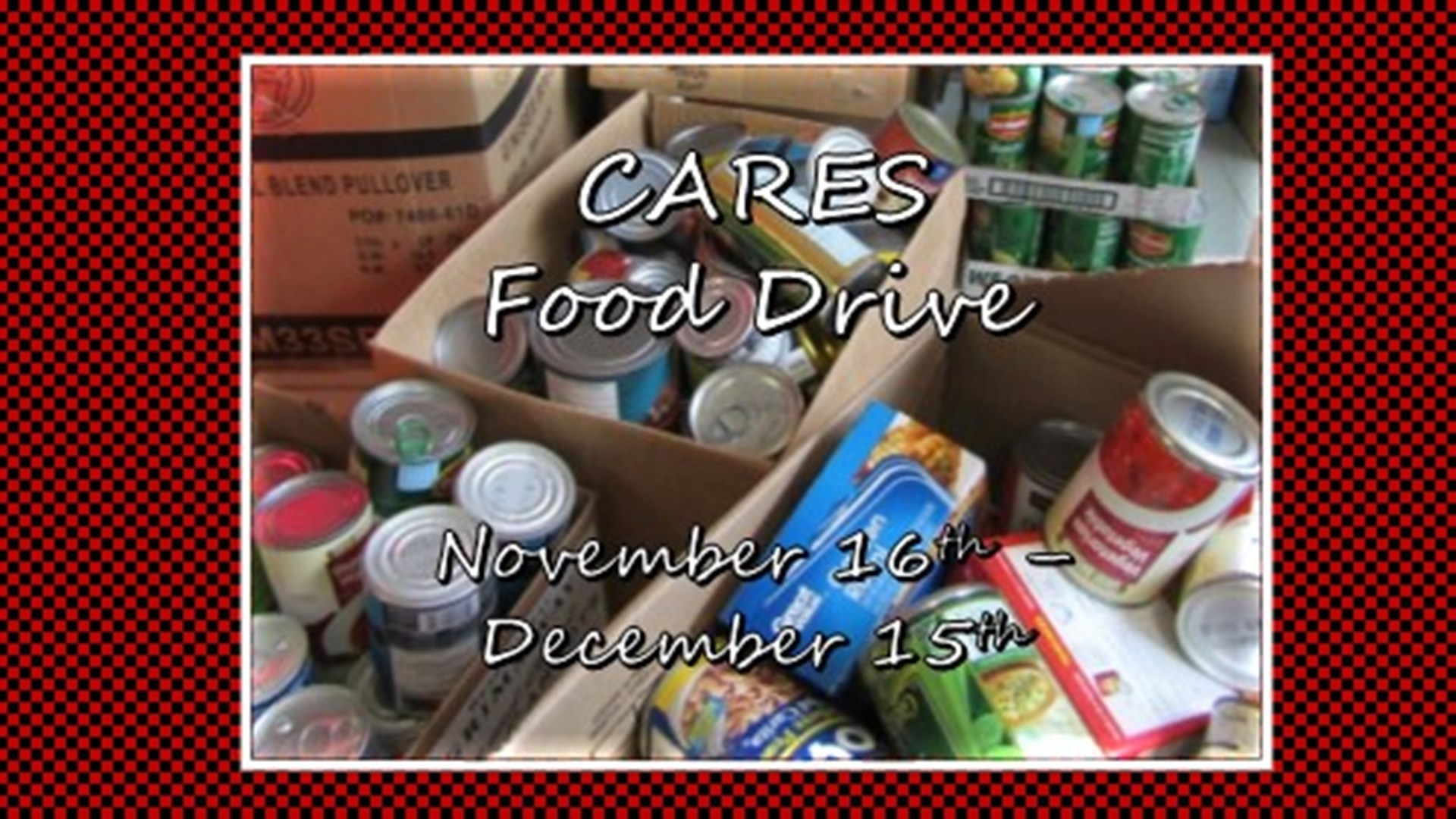 HES Canned Food Drive for CARES